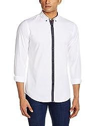Adamo London Men's Casual Shirt (SHTADSU16030_X-Large_White)