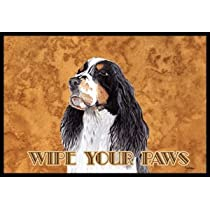 Springer Spaniel Wipe Your Paws Indoor / Outdoor Floor MAT 18 X 27 Inches