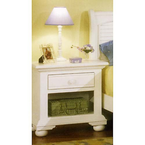 White Wooden Bedside Tables 6148 front