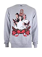 Star Wars Sudadera Christmas Choir (Gris Claro)