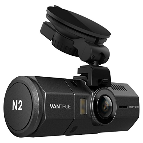 "Vantrue N2 Dual Dash Cam - 1080P FHD +HDR Front and Back Wide Angle Dual Lens 1.5"" LCD In Car Dashboard Camera DVR Video Recorder with G-Sensor, Parking Mode & Super Night Vision"