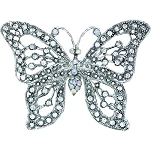 Fashionable and Stylish Rhinestone Studded Butterfly Belt Buckle for Women