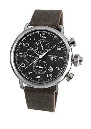 64bb92f592d5 Davis 1930 - Reloj retro piloto para hombre