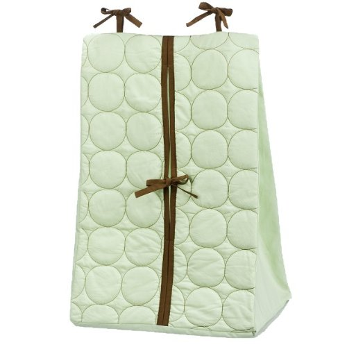 Quilted Circles Green/Choc Diaper Stacker - 1