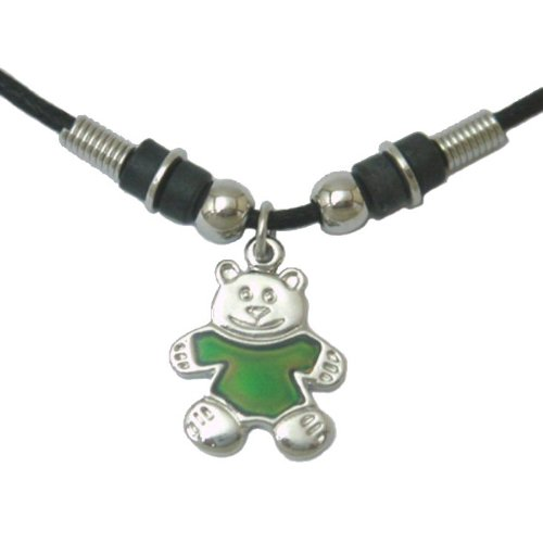 Mood Pendant Necklace - Teddy Bear