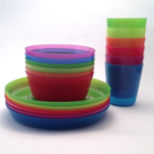 IKEA - KALAS Children Color Bowl, Tumbler and Plate Sets X6 Each (Set of 18) (Child Dishes compare prices)