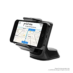 UPPERCASE Windshield Dashboard Universal Car Mount Holder Compatible with Galaxy Note 1/2/3, iPhone 4s/5/5s/5c, Galaxy S4/S3/S2 (Black)