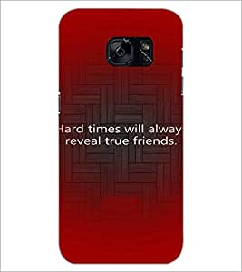 PrintDhaba Quote D-3926 Back Case Cover for SAMSUNG GALAXY S7 (Multi-Coloured)