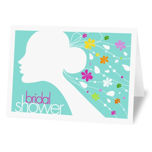 Fabulous stationery veil bridal shower fill in invitations for Bridal shower fill in invitations