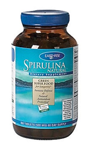 Earthrise - Spirulina, 500mg, 360 tablets
