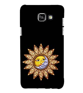 Sun and Moon 3D Hard Polycarbonate Designer Back Case Cover for Samsung Galaxy A3 (2016) :: Samsung Galaxy A3 2016 Duos :: Samsung Galaxy A3 2016 A310F A310M A310Y :: Samsung Galaxy A3 A310 2016 Edition