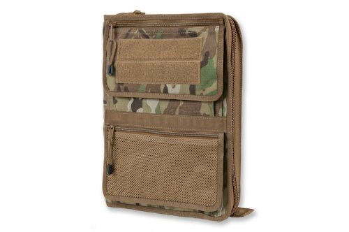 Tactical Admin Organizer With Zippered Map Case On Rear/Map Book Optional (With Map Book In Coyote Brown 2089_5)