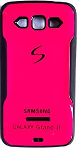 RUBBERIZED SOFT+HARD BACK COVER CASE FOR SAMSUNG GALAXY GRAND 2 PINK
