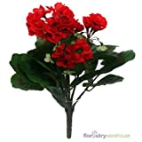 FloristryWarehouse Artificial Silk Geranium Red 30Cm