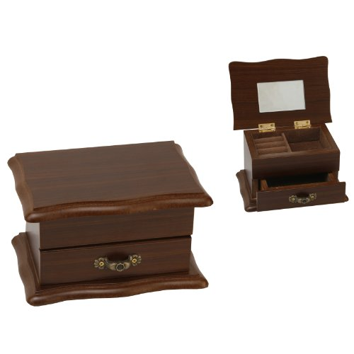 Wooden Jewellery Box With Lid and Draw