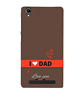 Vizagbeats Happy Father's Day Back Case Cover for Intex Aqua Power Plus