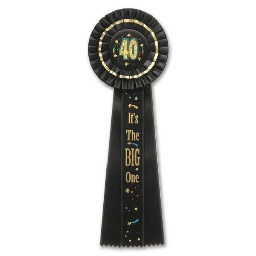 Beistle RD29 40 It's The Big One Deluxe Rosette, 41/2-Inch by 131/2-Inch