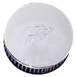 K&N RC-0850 High Performance  Universal Clamp-on Chrome Air Filter