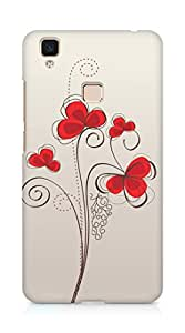 Amez designer printed 3d premium high quality back case cover for Vivo V3 Max (Colors patterns bright)