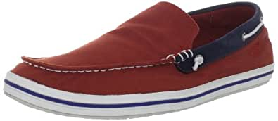 Timberland Men's Casco Bay Canvas Venetian Slip-On,Red,7 M US