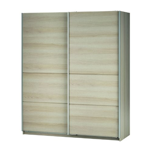 New York Sliding Wardrobe - Wardrobe with Sliding Doors - 2 Door Wardrobe - Blonde Oak Finish