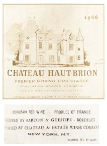 1966 Chateau Haut Brion 375 Ml