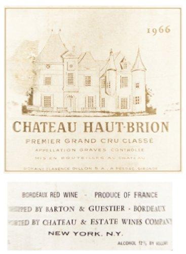 1966 Chateau Haut Brion 375 Ml