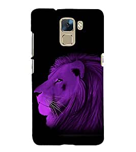 printtech Nature Animal Lion Abstract Back Case Cover for Huawei Honor 7