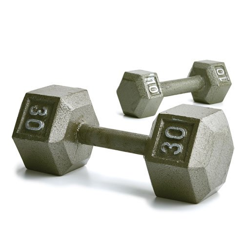Champion Barbell Solid Hex Dumbbells, 3lb