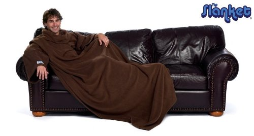 The Slanket Blanket With Sleeves - Chocolate Color