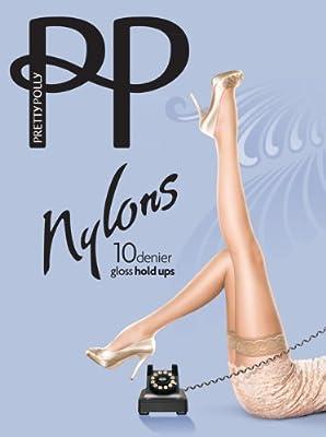 Pretty Polly halterlose Strümpfe NYLONS GLOSS HOLD UPS 10 den by Pretty Polly Tights