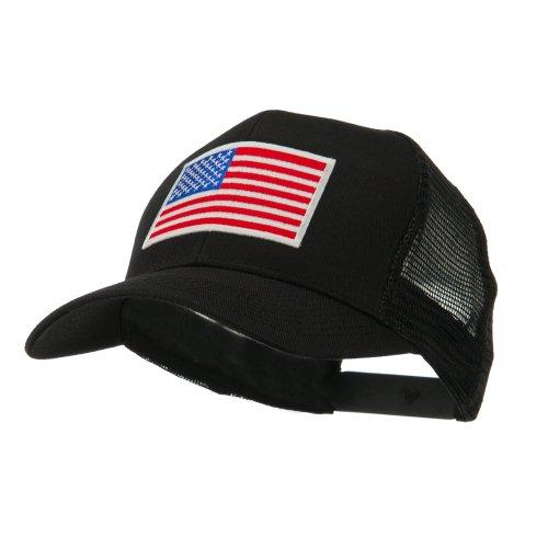 6-panel-mesh-american-flag-white-patch-cap-black-osfm