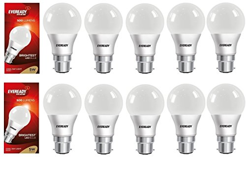 5W LED Bulbs (Cool Day Light, Pack of 10)