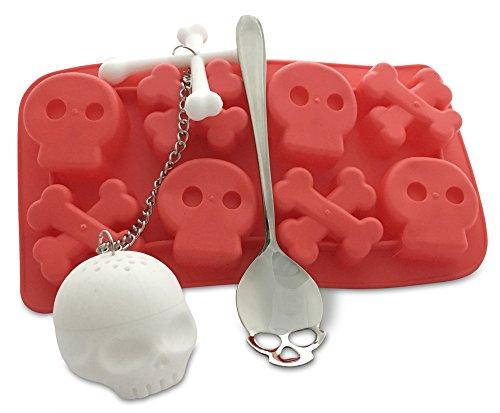 skull-tea-set-strainer-infuser-ice-cube-tray-teaspoon-halloween-gift-blood-red