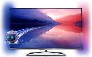 Philips 42PFL6008K/12 107 cm (42 Zoll) Ambilight 3D-LED-Backlight-Fernseher, EEK A++ (Full HD, 500Hz PMR, DVB-T/C/S2, CI+, Smart TV, WiFi) dunkles silber