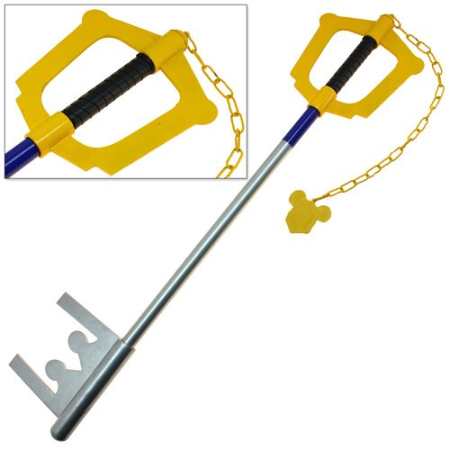 Giant Yellow Key Kingdom of Swords Full Size Hearts Blade Steel Version