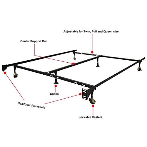 LANGRIA Adjustable Heavy Duty Metal Bed Frame (1000 Lbs