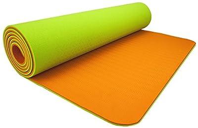 "Wacces TPE Exercise Fitness Yoga Gym Training Premium Mat 72""x 24""x 1/4"" Dual Reversible Non-Slip 6mm"