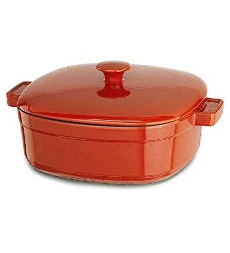 KitchenAid KCLI30CRAU Streamline Cast Iron 3-Quart Casserole Cookware - Autumn Glimmer