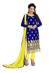 Vardhman MAHEK 60GRAM Blue Georgette unstitched Straight Salwar Suit Dress Material