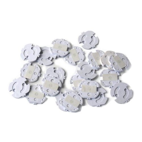 Tapones de seguridad para enchufes (20 unidades), color blanco