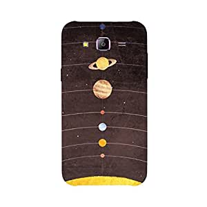 Back cover for Samsung Galaxy A7 Solar System