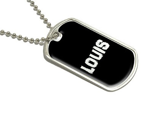 Louis - Name Military Dog Tag Luggage Keychain