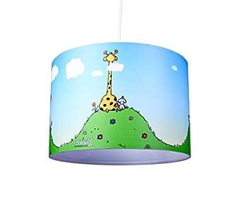 kinderzimmer lampenschirm friends kl01 f r kinderzimmer als steh oder h ngeleuchte. Black Bedroom Furniture Sets. Home Design Ideas