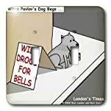 lsp_2977_2 Rich Diesslins Funny Dogs Cartoons - Pavlovs Dog Begging - Light Switch Covers - double toggle switch