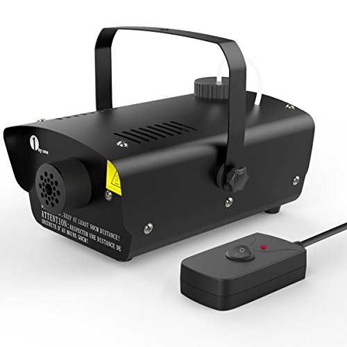 1byone Halloween Fog Machine with Wired Remote Control, 400-Watt Fog Machine, Black (Smoke Machine Portable compare prices)