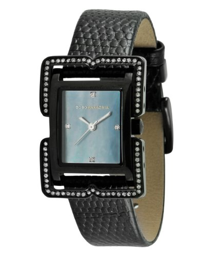 BCBGMAXAZRIA Ladies Watch BG6297 with Black Leather Strap