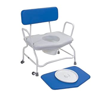 Extra Wide Shower & Commode Chair - Fixed Height by NRS