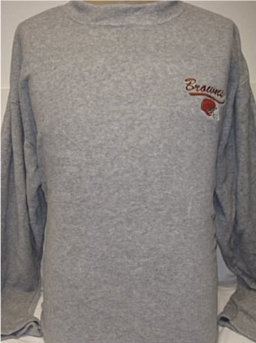 Size Extra Large- NFL Cleveland Browns Long Sleeve, Fleece, Mock Turtleneck shirt! at Amazon.com