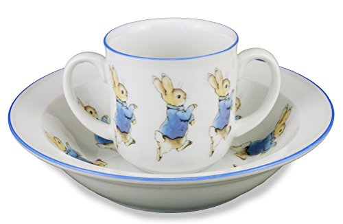 Peter Rabbit Two Piece Porcelain Toddler Set - 1